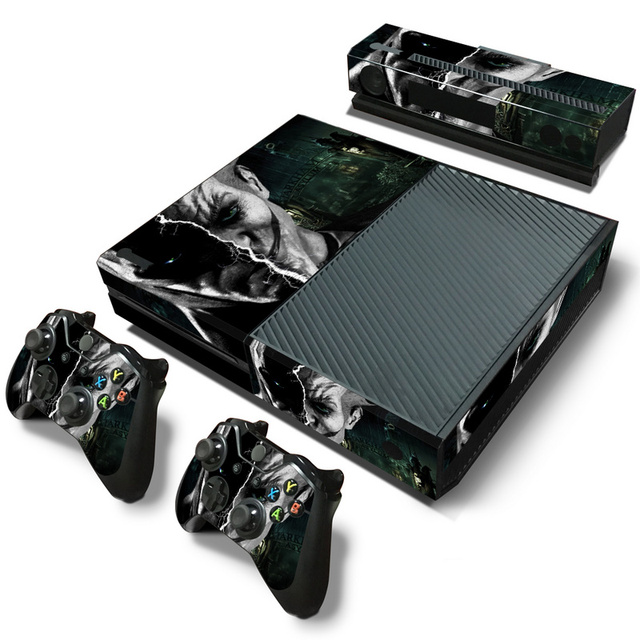 Joker Vinyl Skin Sticker Cover For Microsoft Xbox One Console with 2 Controllers Decal For Xboxone Gamepad Joystick Accessories