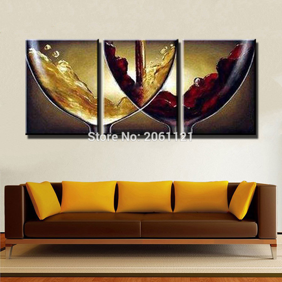 Hand Paint Ideas Kitchen Decorative Oil Paintings On Canvas Wine And