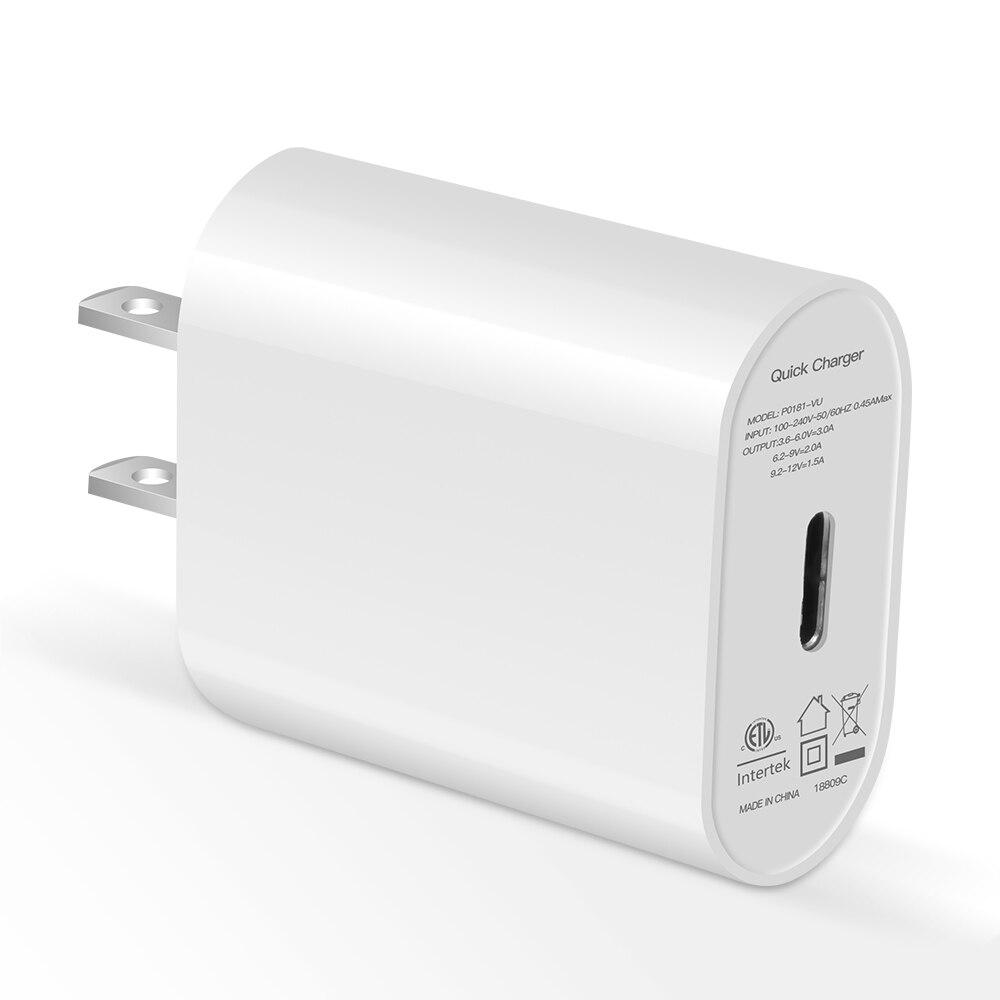 PD Chargeur adaptateur usb 18 w Mobile Téléphone Pour iphone X 8 Plus Type c usb-c câble de Charge charge rapide usb c PD Chargeur