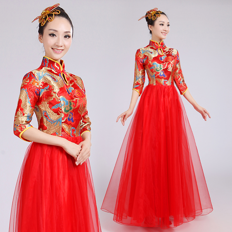 Aliexpress.com : Buy New Chorus Suit Red Dress Costumes