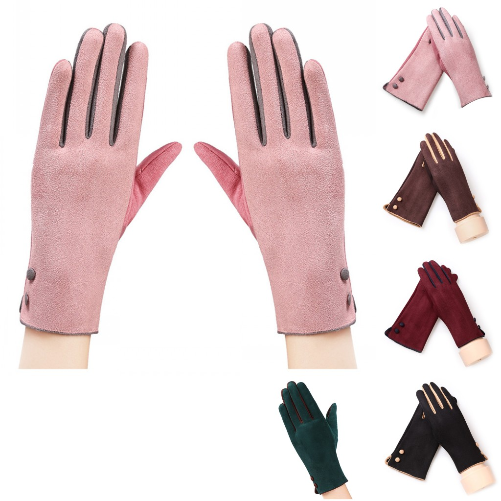Ladies fashion winter outdoor warm gloves lady gloves touch screen functional gloves