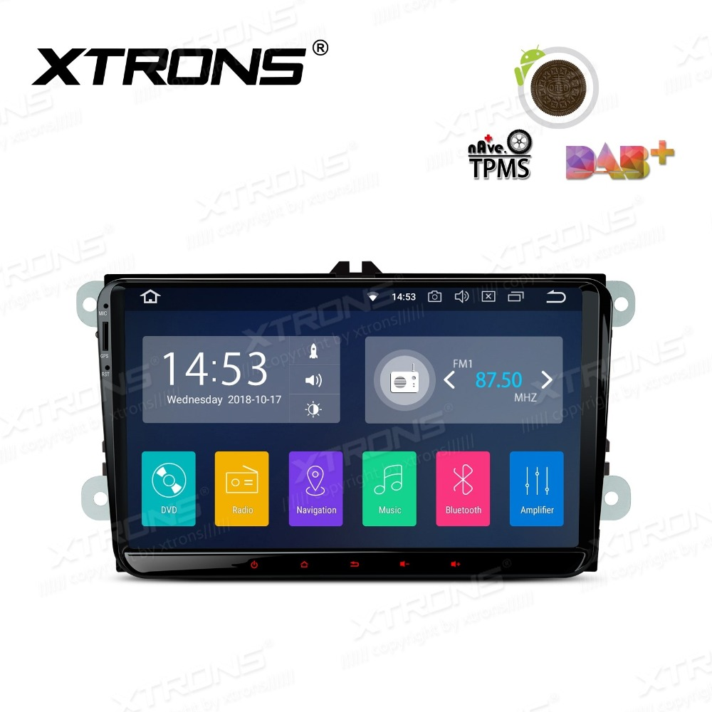 XTRONS 9 Android 8.1 Radio Video GPS RCA RDS WIFI Car Stereo Player NO DVD for vw Golf Plus Passat CC Touran Tiguan Seat Skoda image