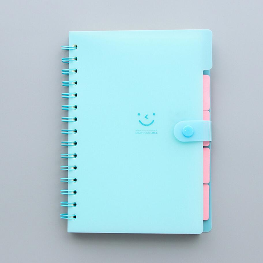 Kawaii Cute smile Pvc Daily Weekly Planner Spiral Notebook Day Plan Diary Notebook Time Organizer School Supplies Agenda never sweet pink diary a6 spiral notebook agenda 2018 personal weekly planner chancellory school supplies korean gift stationery
