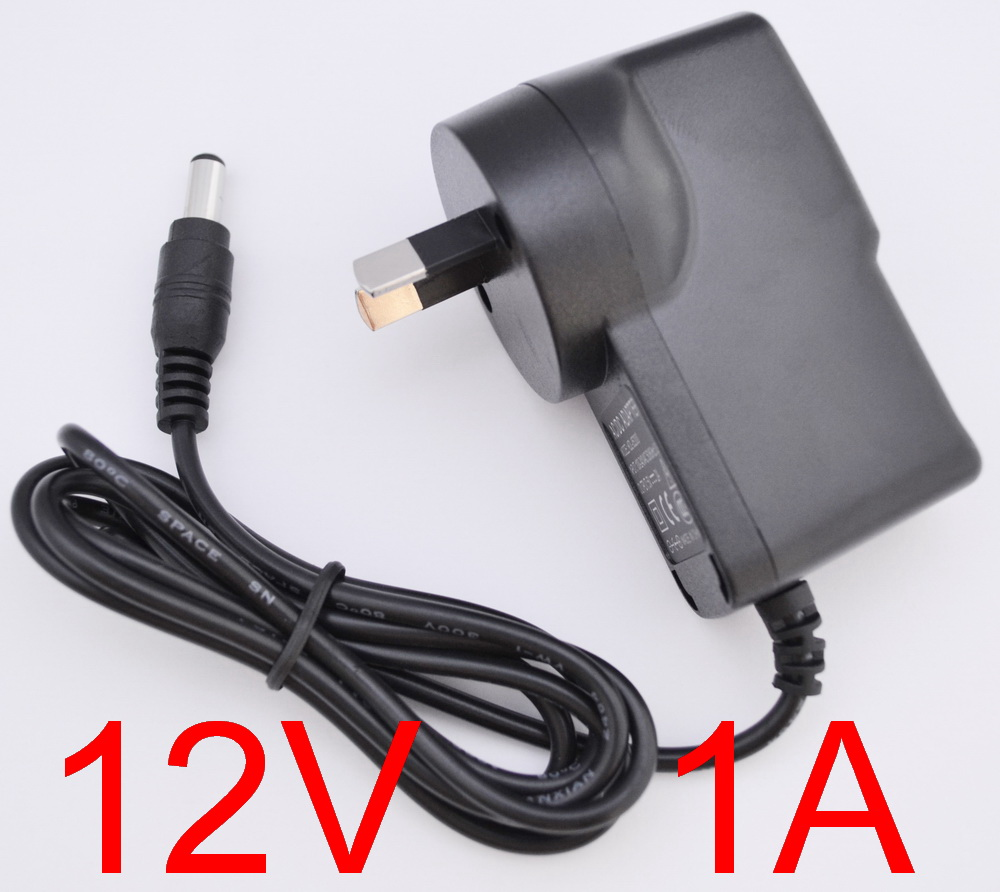 1000MA Power Supply 5.5mm x 2.1mm plug 1A New 12V DC Wall Power Adapter