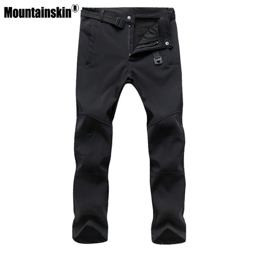 Mountainskin Men's Fleece Pants Casual Male's Jogger Winter Warm Pant Fashion Thick Winter Men Pants Brand Clothing SA393
