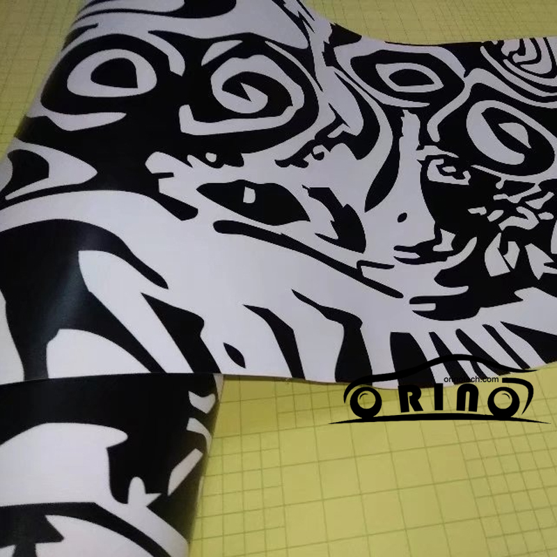 10/20/30/40/50x152cm Black/white Camo Vinyl Film Camouflage Foil Sticker Air Bubble Car Wrap Decal Motorbike Scooter Wrapping