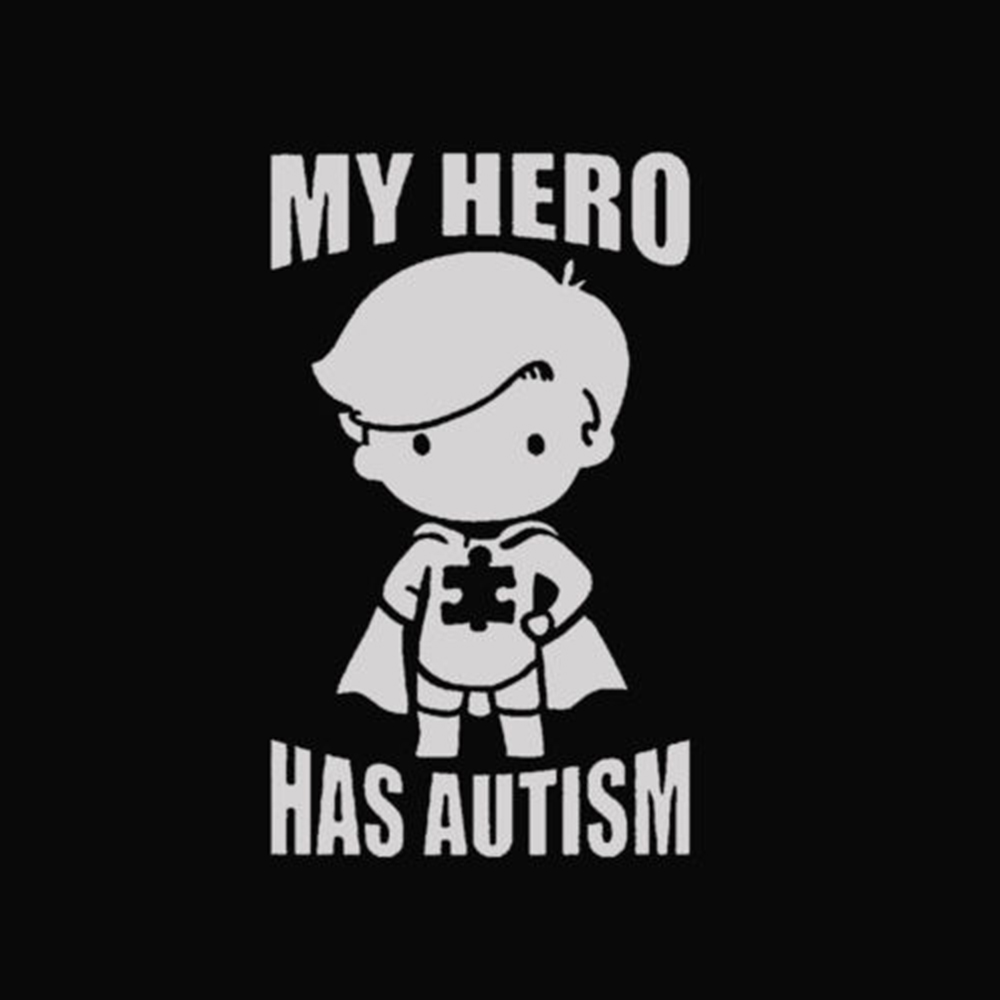 My Hero Has Autism Letters Wall Sticker Removable Stickers