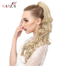 SARLA 10Pcs/Lot Synthetic Ponytail Hair Extension 160g Heat Resistant High Temperature Long Hairpieces P006