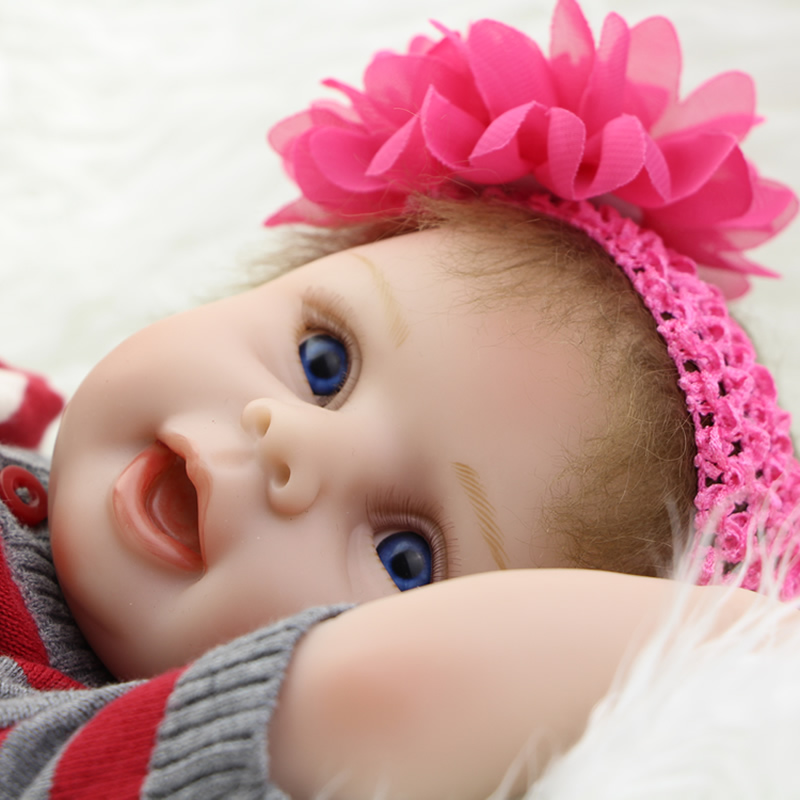 So Truly Real 22 Inch Reborn Babies Lifelike Silicone Vinyl Newborn Girl Babies Princess Alive Boneca Kids Birthday Xmas Gift  realistic full vinyl 18 inch american doll girl baby reborn newborn dolls so truly real princess girls kids birthday xmas gift