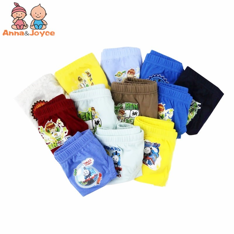 12pcs/lot Cartoon Boyspanties Baby Kids  Briefs Panties  Baby Boys  Underwear Panties Baby Underpants 2 To 10 Years