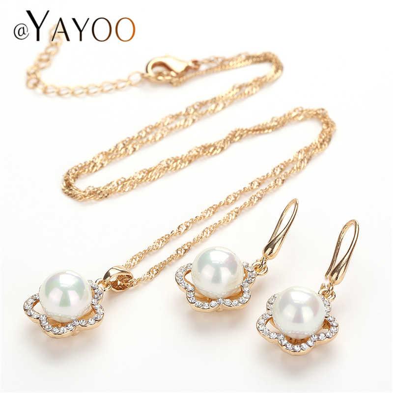 AYAYOO Jewelry Sets Women Wedding African Beads Jewelry Set Imitation Crystal Jewelery Set Cheap Christmas Costume Jewellery