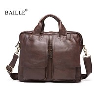 BAILLR Brand Genuine Leather Men S Handbag Luxury Design Cross Body Bag High Quality Tote Bags