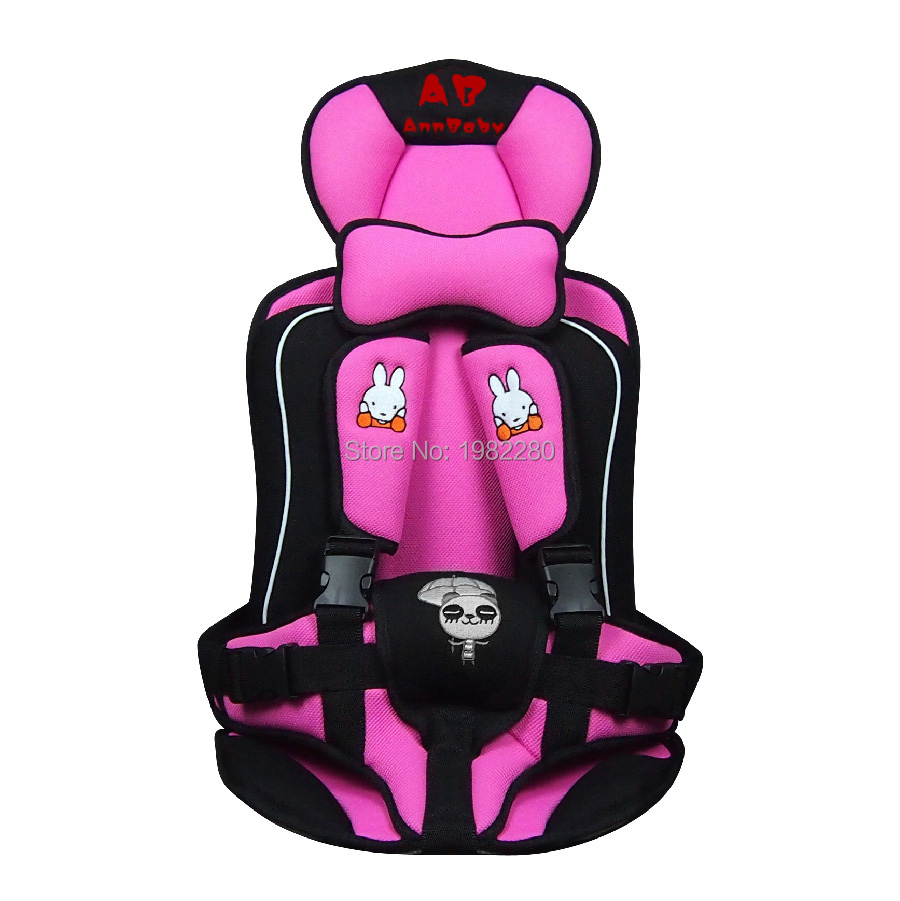Portable Child Car Safety Seats Five-Pionts Childrens Chairs Updated Version Cotton Baby Car Seat Four Colors Siege Auto Enfant