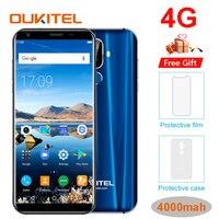 Oukitel K5 18:9 Дисплей 5,7 ''HD Android 7,0 2 GB Оперативная память 16 Гб Встроенная память MTK6737T 4 ядра 13MP 3 камеры 4000 мА/ч, с отпечатком пальцев, мобильный