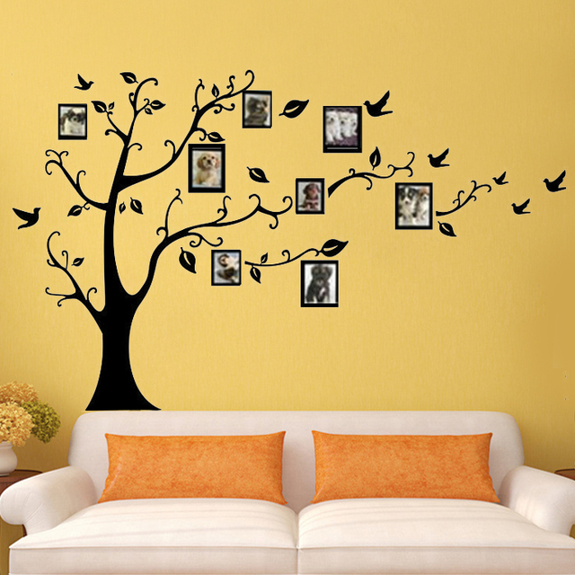 Photo frame tree wall stickers quotes wall arts home decorations ...