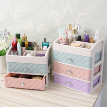 Plastic Drawer Makeup Organizer Cosmetic Beauty Box Nail Desktop Storage Case Brush Lipstick Nail Polish Container Bathroom Item
