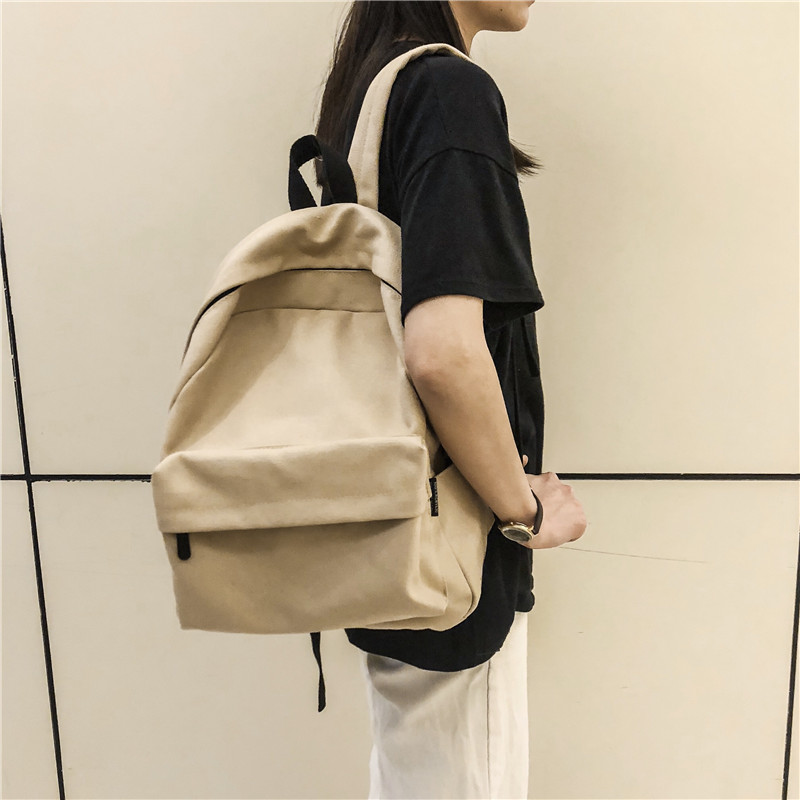 High Quality Backpack Women's Canvas Korean Laptop Campus Student Backpack Retro Teens Girls Schoolbag