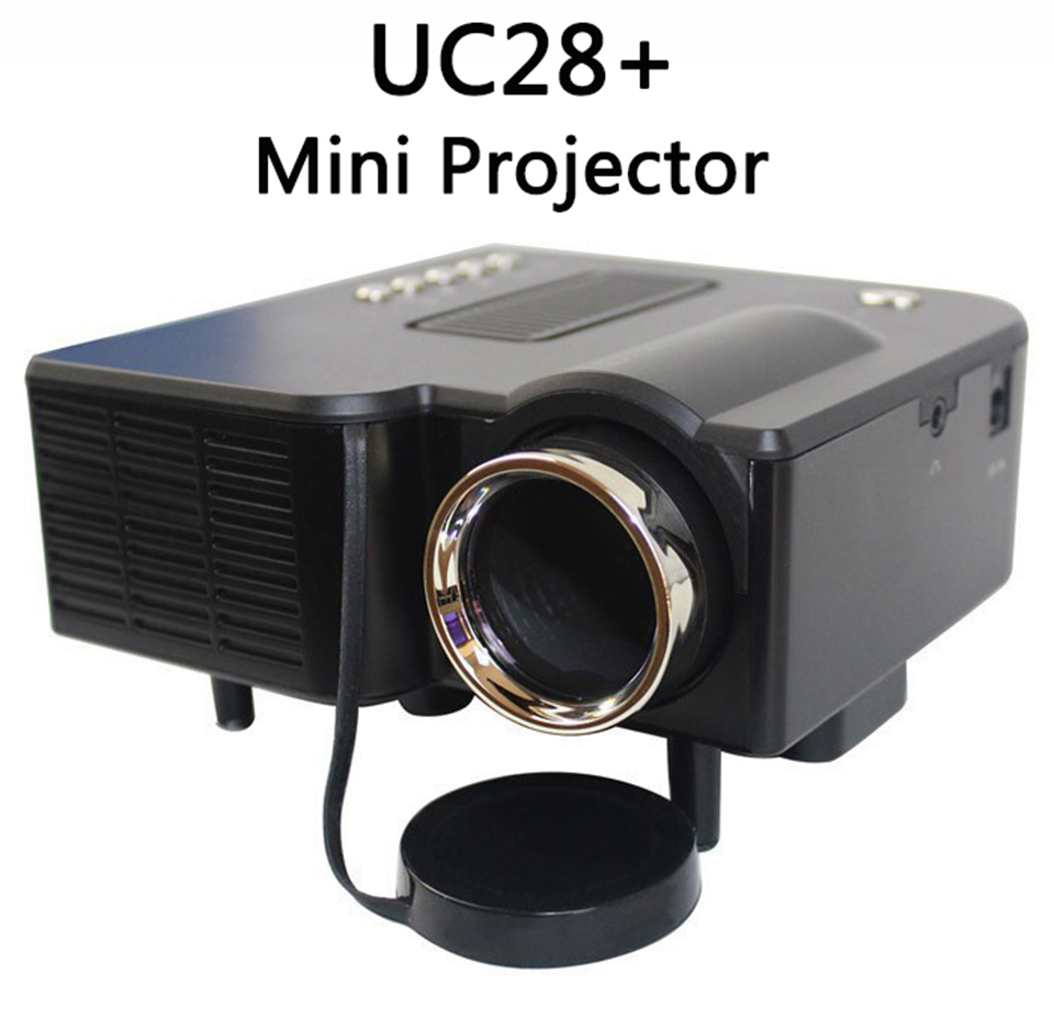 ФОТО UNIC Multidimension UC28+ household mini LED projector Computer TV USB flash SD card and DVD proyector Video projector