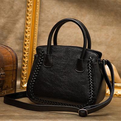 2017 Designer Women Genuine Leather Handbags Large Shoulder Bag Cowhide Ladies Tote Bags Black Red Casual Shopping Bag Bolsos
