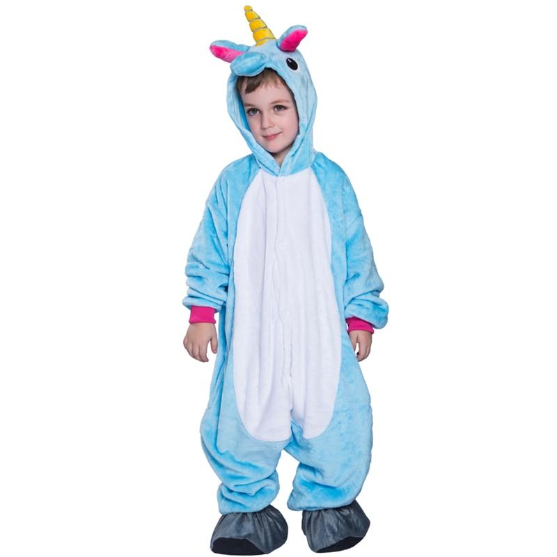 blanket sleeper clothing unicorn for kids unicorn costume panda tiger cow owl animal cosplay boy halloween costumes 2017 - Halloween Costume Cow