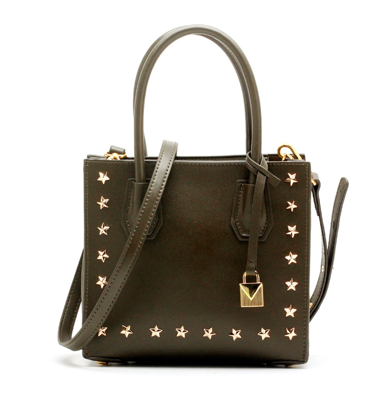 Bolsa Feminina Luxury Handbags Women Bags Designer Pentagram Star Rivet Tote Bags Lock Large Leather Crossbody Bags For Women new fashion handbags real leather women rivet bags casual tote ladies bag crossbody bags for women luxury brand bolsa feminina