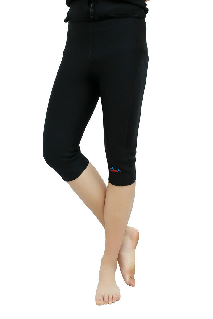 Новый стиль неопреновый жилет для Гидрокостюма + шорты для женщин 2 мм серфинг для купания костюм из двух частей для плавания Подводное плавание с длинными рукавами гидрокостюмы - 6