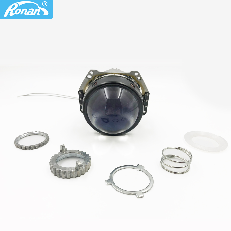 RONAN 3.0'' He-lla H4 3R G5 Bi xenon film lens projector car styling retrofit headlights for cars using D2S D2H xenon HID bulb