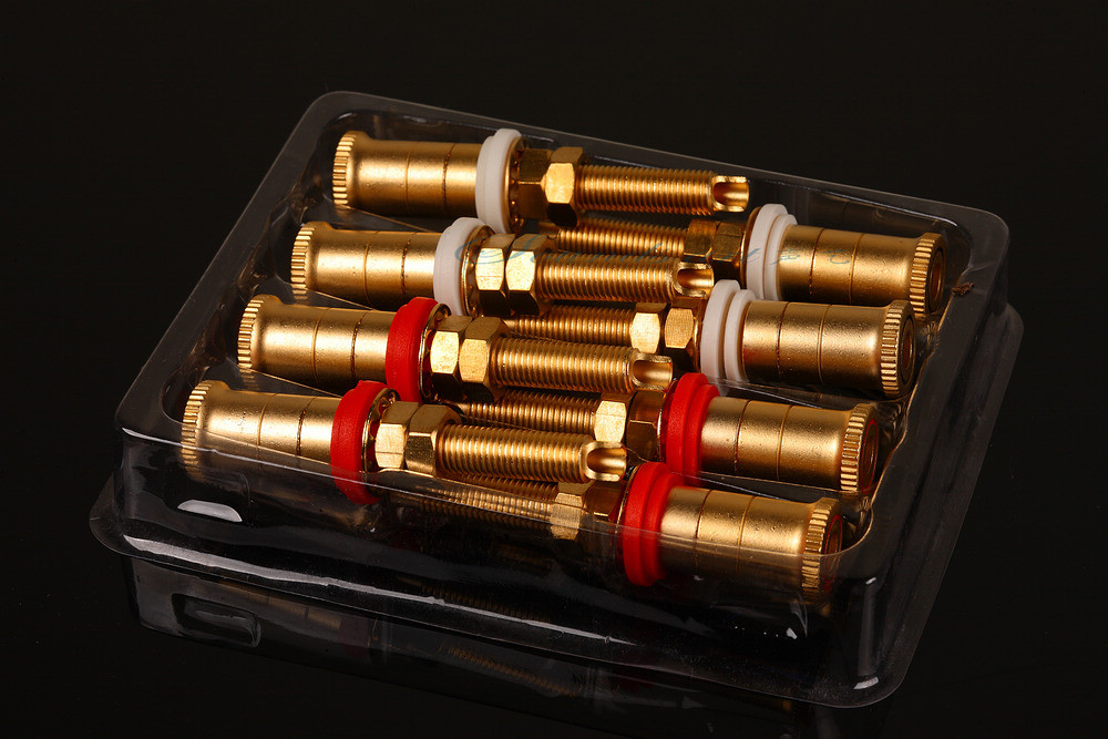 8pcs set Gold Plated Copper Speaker Binding Posts Terminal Connectors WBT style
