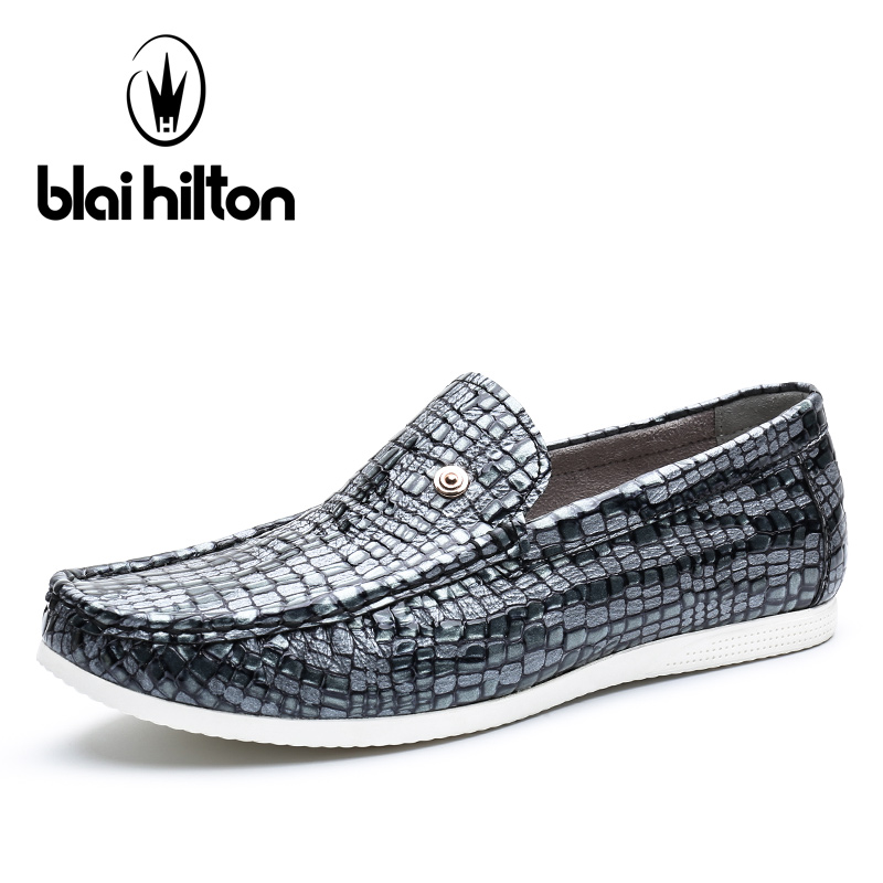 Blaibilton Summer 100% Luxury Genuine Leather Loafers Men Shoes Fashion Flats Slip On Mens Shoes Casual Classic Designer SD7037 farvarwo genuine leather alligator crocodile shoes luxury men brand new fashion driving shoes men s casual flats slip on loafers
