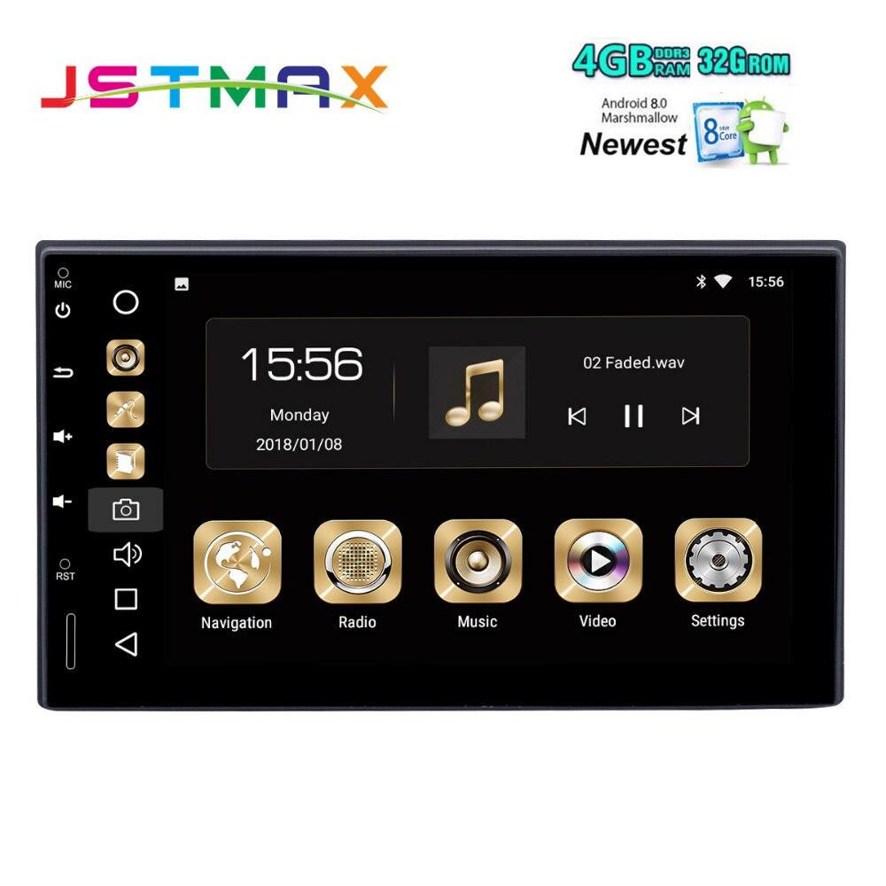"""Double DIN 7 """"Универсальный 2 DIN два DIN android-автомобильный радио 8.0 Octa core 4 ГБ 32 ГБ 1024*600 стерео Авто GPS плеер"""