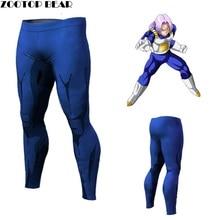 Мужчины Женщины Dragon Ball Брюки Сжатия Брюки Фитнес Quick Dry брюки Плотно Аниме Dragon Ball Z Вегета Гоку Брюки ZOOTOP МЕДВЕДЬ