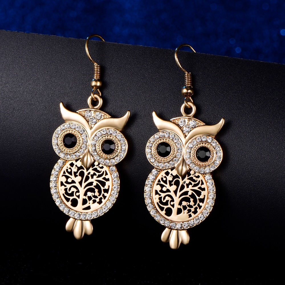 Us 2 75 32 Off Clic Tree Of Life Owl Earrings Fashion Jewelry Silver Rose Gold Cute Vintage Animal Charm Earring Boucle D Oreille Femme 2019 In