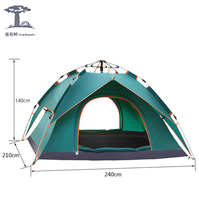3-4 Person Family C&ing Tent Double Layer portable 2 kinds of use Tents Waterproof  sc 1 st  AliExpress.com & 3 4 Person Family Camping Tent Double Layer portable 2 kinds of ...