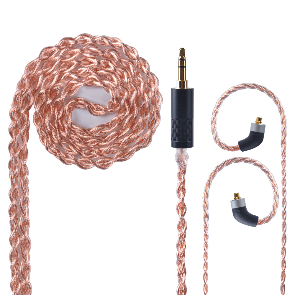 OFHC 24 AWG 6N High Purity Copper Cable 2.5/3.5/4.4mm Balanced Earphone Cable With MMCX Connector from Taiwan For HQ8 HQ10