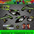 Customized Team Graphics  Backgrounds Decals 3M Custom MST02 Stickers For KAWASAKI KX250F KX450F KXF KLX 450 250 2004 2005 2015