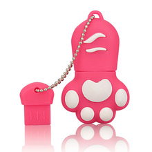 J-boxing Pink USB Flash Drive 32GB Lovely Cat Claws Pendrive 16G Memory Stick Women 64GB Thumb for Computer Mac Tablet