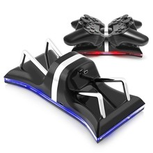 USB Dual Controllers Ports Charge Station Charging Dock Stand For Sony PlayStation 3 Blue Light usb charger for PS3 Controller
