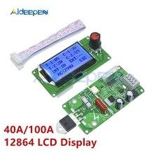 40A 100A 12864 شاشة الكريستال السائل الرقمية مزدوجة نبض التشفير بقعة ماكينة لحام محول تحكم مجلس التحكم الوقت