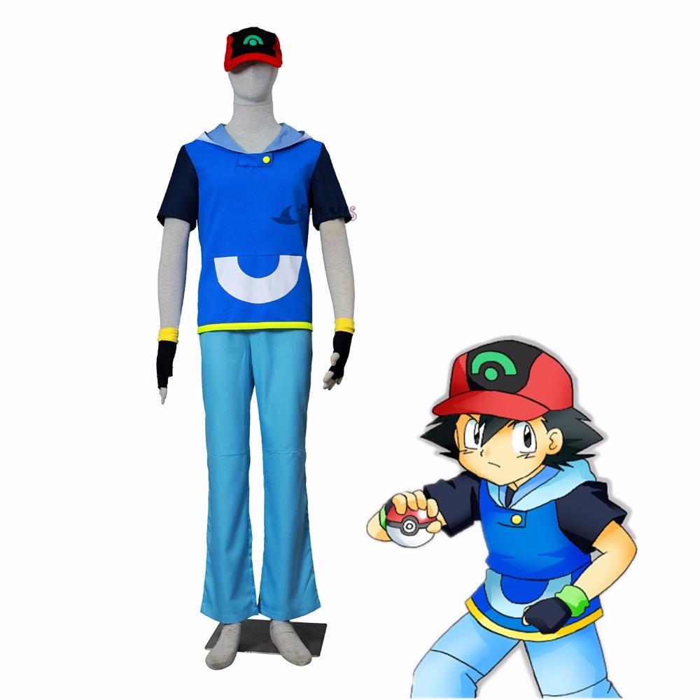 Athemis Pokemon Ash Ketchum cosplay Ash Ketchum cosplay costume OLM TEAM OTA 4 style