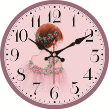 MEISTAR Vintage Pink Clocks Beauty Sweet Design Silent Living Office Cafe Home Wedding Decor Watch Wall Art Large