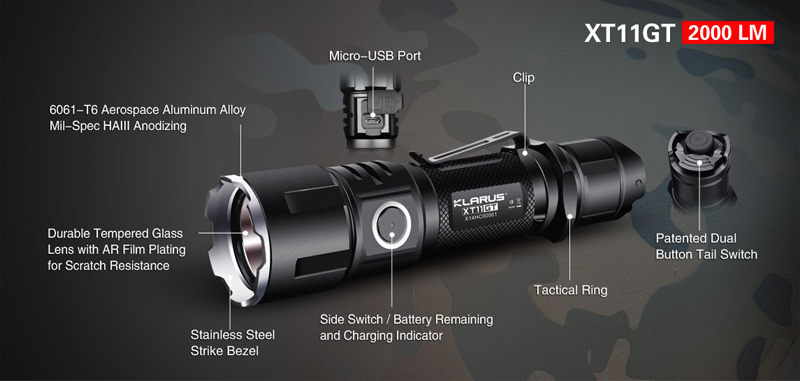 KLARUS XT11GT Programmable Tactical Flashlight (21)