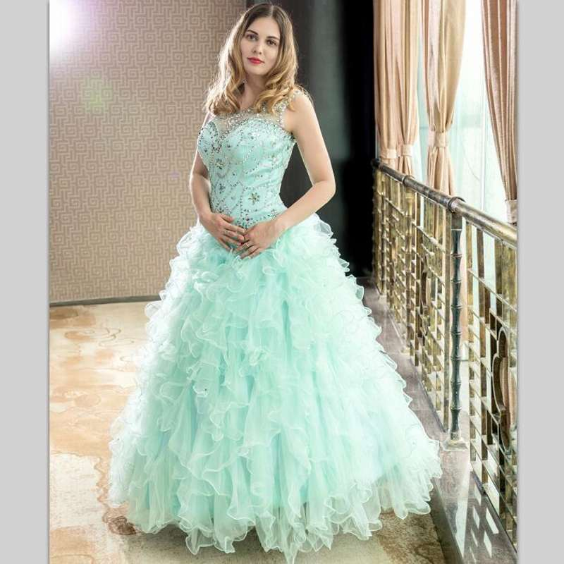 Gorgeous Quinceanera Dresses 2018 Masquerade Ball Gowns Puffy Fully Beading Crystals  Corset Sparkly Sweet 16 Dress Quinceanera-in Quinceanera Dresses from ... 19e36a7420fe