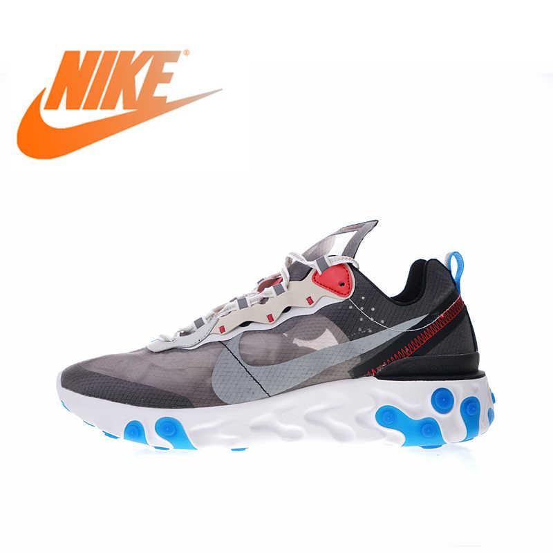c5ce69a0c5 Original New Arrival Authentic Nike Upcoming React Element 87 Men's  Comfortable Running Shoes Sport Outdoor Sneakers AQ1090-003