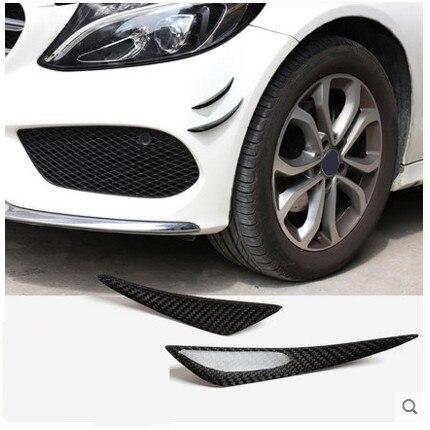 4pcs Carbon Fiber Car Auto Front Bumper Fins Lip Canards Splitter Trim Kit Candars