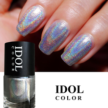IDOL COLOR 10ml Laser Series # 301 Nagų lakas Dideli ingredientai Holografinis nagų lakas Super Shine Holo Nagų dailė Vanish Polish
