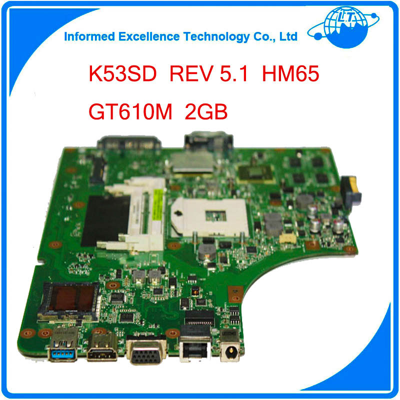 60-N3EMB1300-024 REV 5.1 For Asus K53SD Motherboard with Discreet Graphics Card N13M-GE1-S-A1 2GB