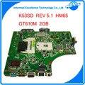 60-n3emb1300-024 rev 5.1 para asus k53sd motherboard com n13m-ge1-s-a1 discreta placa gráfica 2 gb