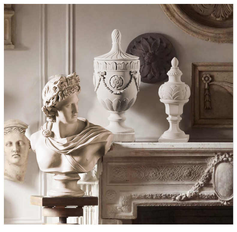 European Roman Column Decoration Statue Sculpture Resin Ornaments Home Living Room Or Bedroom Decor Geometric Accessories Gift