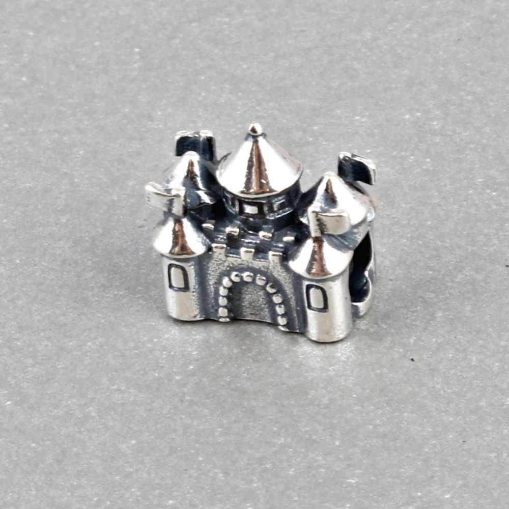 ZMZY Original 925 Sterling Silver Charms Beads Castle Crown Charm Fit Pandora Bracelet Pendant Authentic Jewelry for Women