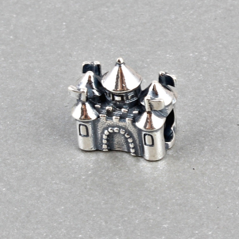 ZMZY Original 925 Sterling Silver Charms Beads Castle Crown Charm Fit Pandora Bracelet Pendant Authentic Jewelry for Women strollgirl car keys 100% sterling silver charm beads fit pandora charms silver 925 original bracelet pendant diy jewelry making